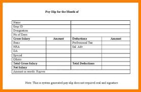salary slips format top 5 formats of salary slip templates word
