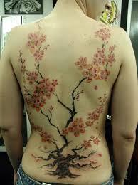 full back with beautiful flower tree tattoo for female golfian com