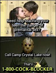 Jason Voorhees Meme - 1 800 cock blocker funny memes daily lol pics