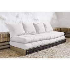 matelas futon canapé banquette convertible tatami chico matelas futon écru couchage 2 x