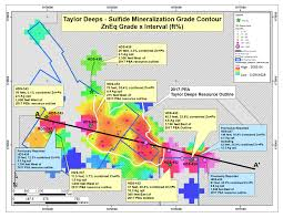 750 Meters To Feet by Arizona Mining Continues To Expand Taylor Deeps And The Trench