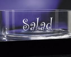 monogrammed serving dishes salad bowl etsy