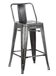 industrial metal bar stools with backs ac pacific industrial metal barstool bucket back 4 leg design 24