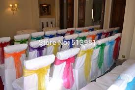 chair cover sashes 200 pcs mint green chair cover sashes organza wedding sash party