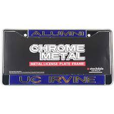 ohio alumni license plate frame irvine anteaters metal alumni inlaid acrylic license plate frame