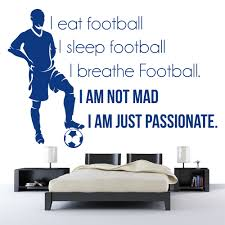 sleep breathe football sports quotes wall sticker home art