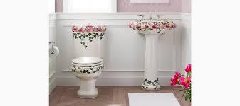 Kohler Toilet Seat Colors Kohler K 14239 Ps Peonies U0026 Ivy Design On Revival Two Piece 1 6