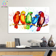 aliexpress com buy watercolor art painting canvas cheap colorful