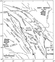 Riverside Ca Zip Code Map by Southern California Fault Map California Map