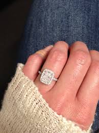 Halo Cushion Engagement Rings Perfection Radiant Cut Engagement Ring Halo Cushion Setting