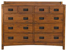 10 Drawer Cabinet Mission Hill 10 Drawer Dresser Transitional Dressers By A