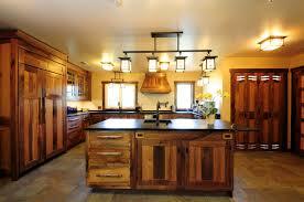 Rustic Kitchen Ideas For Small Kitchens - walnut wood autumn shaker door rustic kitchen lighting ideas sink