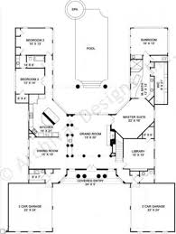 house plans u shaped floor plan youtube l with pool in middle
