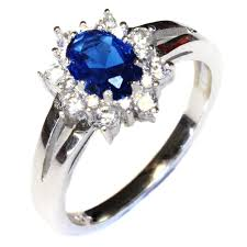 blue promise rings images Sapphire promise ring blue cubic zirconia the silver ring jpg