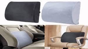 Desk Chair Cushion Memory Foam Back Support Pillow Lumbar Cushion Home Office Car
