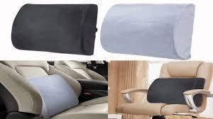 Desk Chair Cushion Memory Foam Back Support Pillow Lumbar Cushion Home Office Car