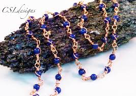 making necklace chain images Wire wrapped loop gemstone chain make your own chain series jpg
