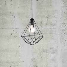 nordlux tees geometric cage wire pendant light black lsy