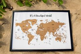 Beautiful World Map by It U0027s A Beautiful World Watercolor Art Scratch Able Travel Map