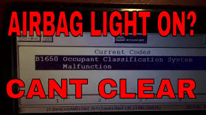 reset vsc light lexus ls460 toyota airbag b1650 occupant classification how to reset program