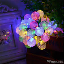 30 led solar outdoor string lights 20ft 30led crystal ball