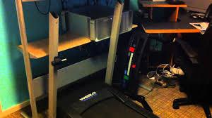 Diy Treadmill Desk by My Home Diy Treadmill Desk Officewalker Com Youtube