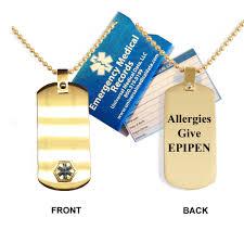 titanium allergies allergies give epipen anodized titanium alert dog tag