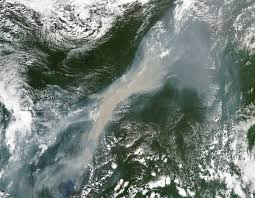 Wildfire Haze Map by Smoke And Fires Across Central Russia Nasa