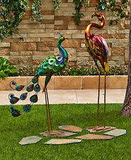 flamingo metal statues lawn ornaments ebay
