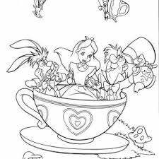 tea party colouring pages free download