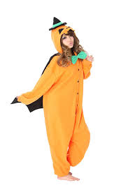 amazon com pumpkin kigurumi costume orange clothing