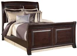 king sleigh bed in dark brown