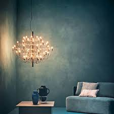 Living Room Chandelier 2097 Contemporary Mid Century Chandelier By Gino Sarfatti
