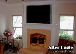 Mounting Tv Over Brick Fireplace by Image Result For Building Wood Trim Over Brick Fireplace Mantle To