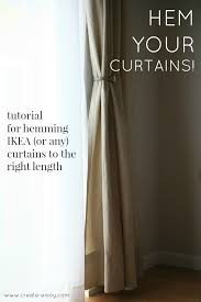 Ikea Beige Curtains How To Hem Ikea Curtains Essential Tutorial Create Enjoy