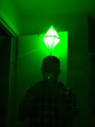 plumbob headband led light up sims plumbbob costume that green pylon above their