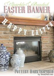 Pottery Barn Easter Eggs Pbk Inspired Glitter Happy Easter Banner Bren Did