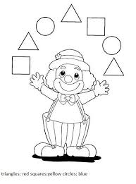shape worksheets clown activity nápady do mš pinterest