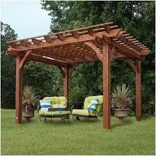 backyards chic amazoncom backyard discovery cedar pergola 12 by