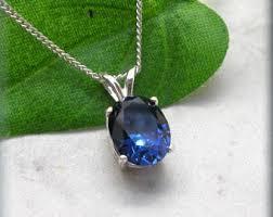 sapphire gem necklace images Sapphire necklace etsy jpg
