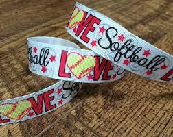 softball ribbon by the yard softball ribbon etsy