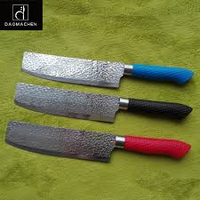 coloured kitchen knives 3 colour embossing kitchen knife 7 inch chef knife silica gel