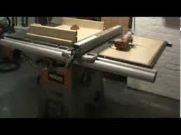 Ridgid Table Saw Extension Ridged R 4512 Table Saw Sled And Router Homemade Combination Youtube