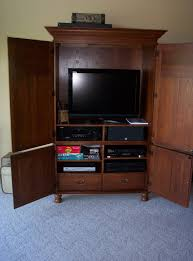 Tv Armoire With Doors And Drawers Best Tv Hutch With Doors Homesfeed