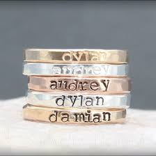 stackable rings with children s names sted ring ideas collections