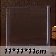 wholesale candy apple supplies wholesale 11 11 11cm clear pvc box 30 pcs lot packing wedding