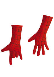 kids deluxe spiderman long gloves halloween costumes
