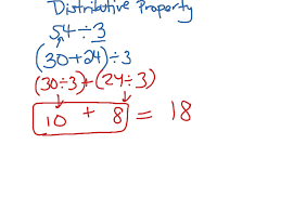 distributive property math arithmetic distributive property