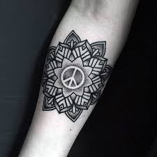 70 peace sign tattoos for symbolic ink design ideas