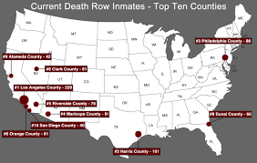 Map Of Orange County Ca Death Row Inmates By County Of Sentencing Death Penalty